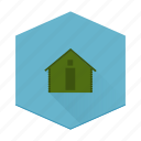boards, cabin, house, individular, log icon