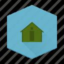 boards, cabin, house, individular, log icon