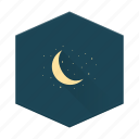 boards, individular, moon, night, sky, starts icon