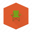 boards, camping, chair, concert, folding, individular, sitting icon