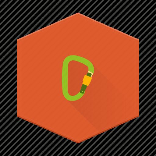 boards, carabiner, climbing, hiking, individular, safety, tool icon