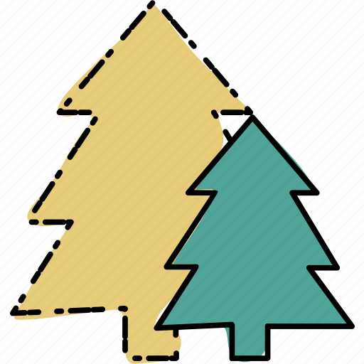 camping, outdoor, travel, trees icon