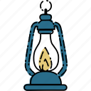 camp, camping, lamp, oil icon