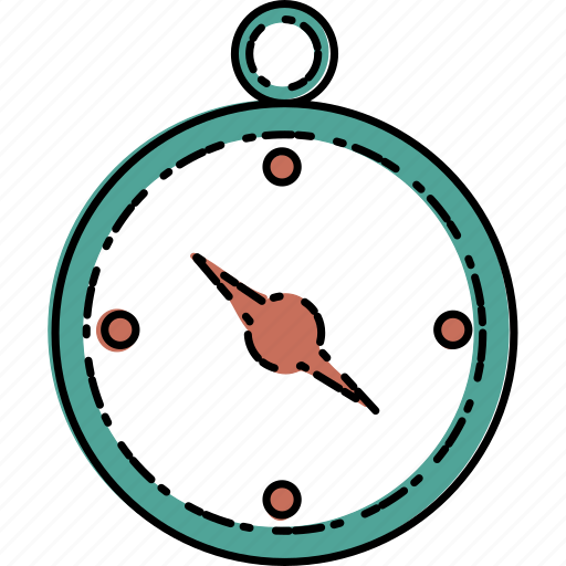 adventure, camping, compass, direction, nature icon