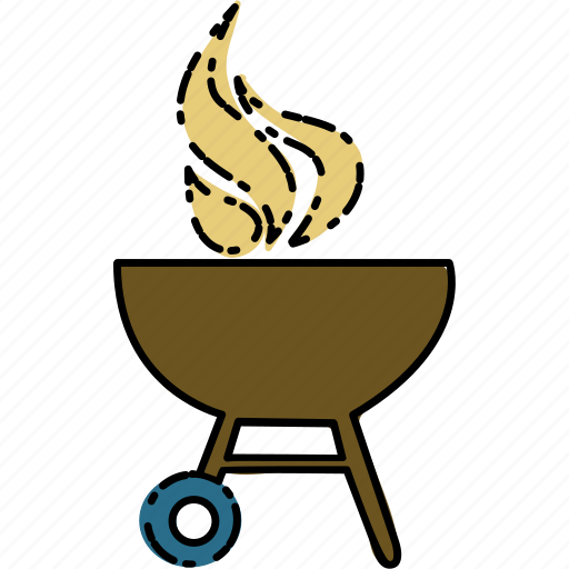 barbeque, camping, outdoor, travel icon