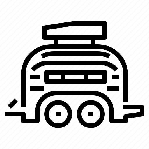 cargo, trailer, transport, truck, vehicle icon