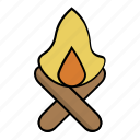 adventure, burn, campfire, camping, fire, light icon