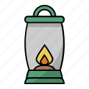 camping, energy, fire, firelight, lamp, lantern, light icon