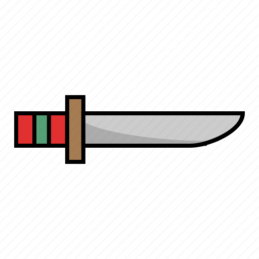 camp, camping, cut, knife, outdoor, weapon icon