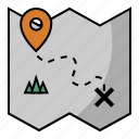 adventure, direction, journey, location, map, pin, trip icon