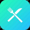 fork, kitchen, knife, restaurant, tool, utensile