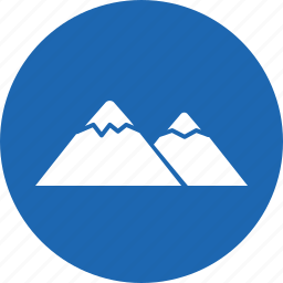 atmosphere, forest, ice, mountain, nature, side, view icon