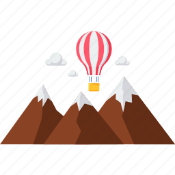 air balloon, flying, glider, hot air balloon, parachute, paragliding, skydiving icon