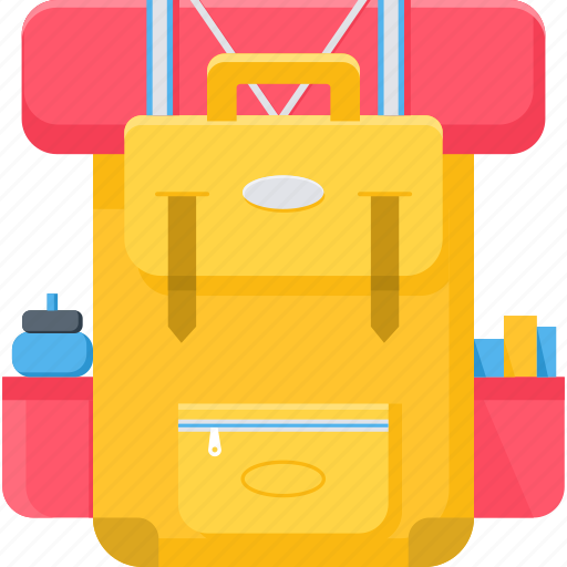 backpack, bag, baggage, holiday, luggage, suitcase, vacation icon