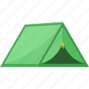 camp, camping, green, holiday, house, summer, tent icon
