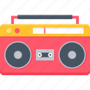 taperecorder, audio, cassette, music, boombox, stereo icon