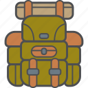 backpack, camping, hiking, rucksack icon