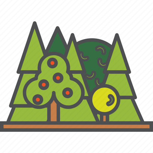 camping, forest, nature, travel icon