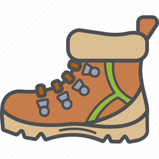 boots, camping, hiking, vacation icon