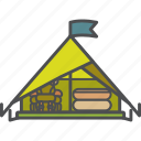 adventure, camping, outdoor, tent icon