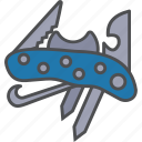 equipment, knife, multitool, tools icon