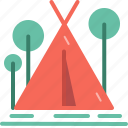camp, camping, forest, jungle, outdoor, park, tent icon