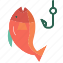 camping, fish, fishing, food, hobby icon