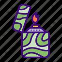 flame, lighter, zippo, burn, fire, idea, light icon