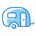 camping, caravan, trailer, travel, vacation icon