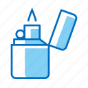 camping, fire, flame, lighter icon