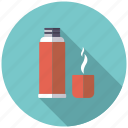 bottle, camping, coffee, drink, equipment, outdoors, thermos icon
