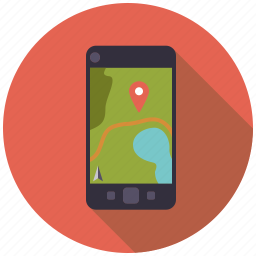 camping, equipment, geo-caching, gps, navigation, outdoors, smartphone icon