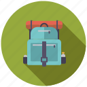 backpack, camping, equipment, hiking, luggage, outdoors icon