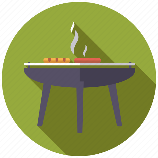 barbecue, camping, equipment, food, outdoors, sausage icon