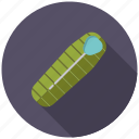 camping, equipment, outdoors, sleeping bag icon