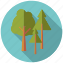 camping, forest, nature, outdoors, pine, trees, woods icon