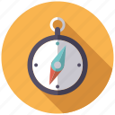 camping, compass, directions, equipment, navigation, outdoors icon