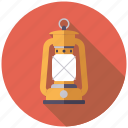 camping, equipment, kerosene, lamp, lighting, oil lamp, outdoors icon