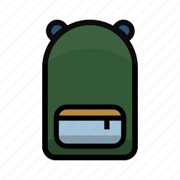 backpack, camping, outdoor, transport, wear icon