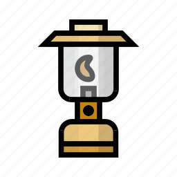 camping, gas, gaslight, light, outdoor icon