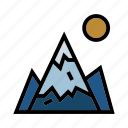 camping, climb, forrest, mountain, outdoor icon