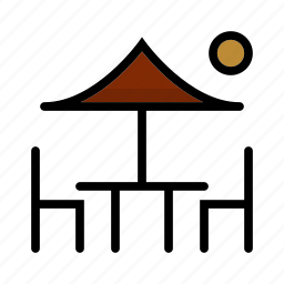 break, camping, outdoor, seating icon