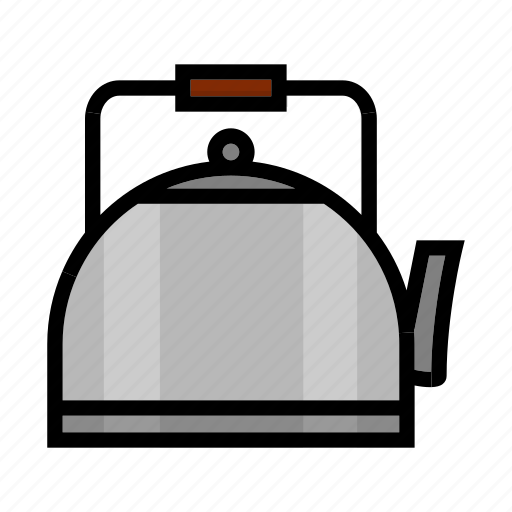 camping, outdoor, pot, tea, teapot icon