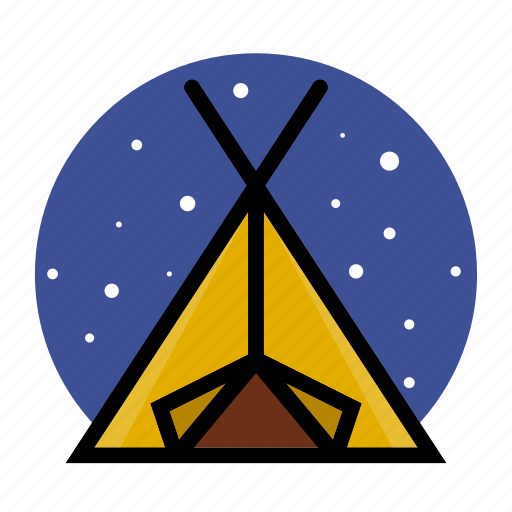 camp, camping, outdoor, tent, wikwam icon