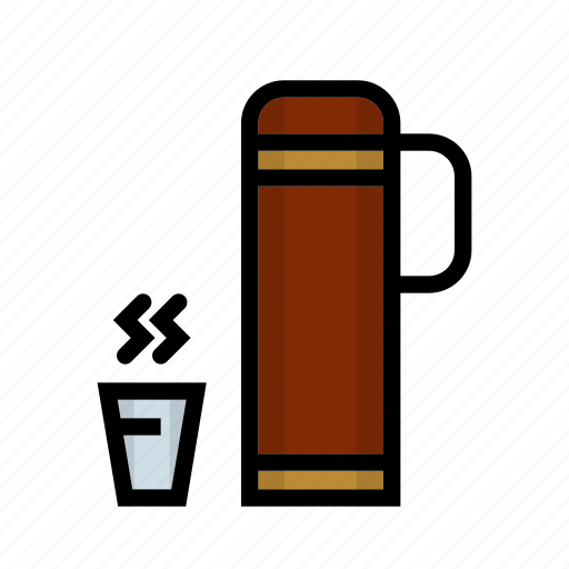 camping, coffee, drink, lunch, outdoor, thermos icon