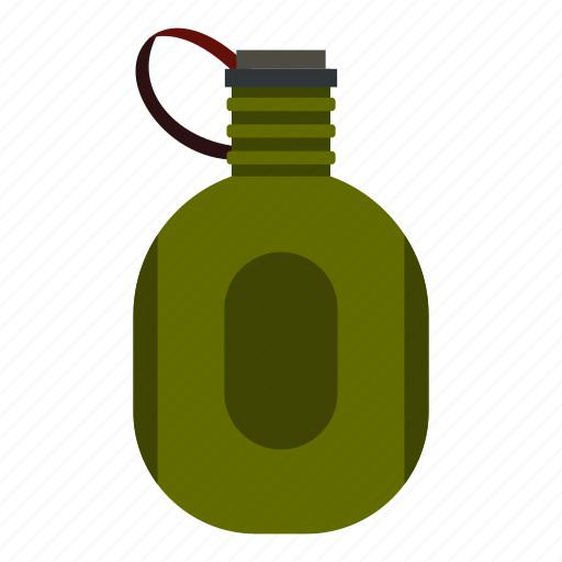 bottle, canteen, container, drink, flask, travel, water icon