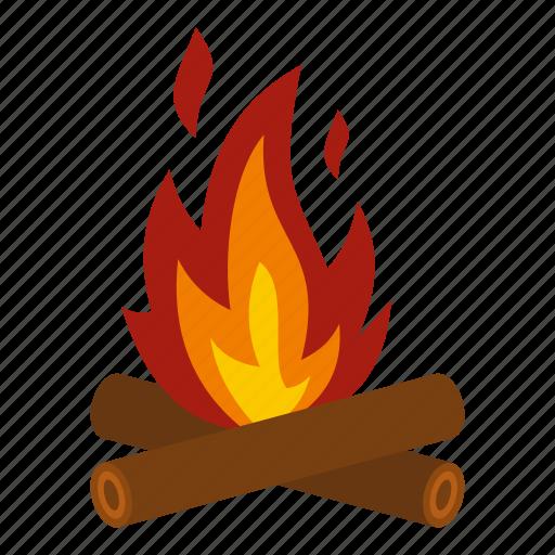camp, campfire, fire, firewood, heat, light, travel icon