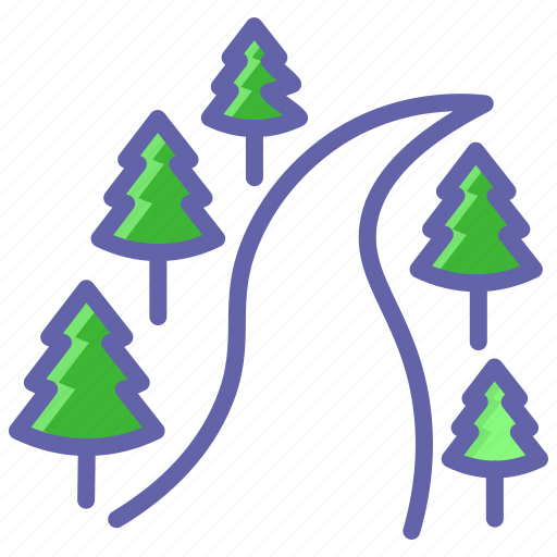 Camping, forest, river, spruce, travel, trees icon - Download on Iconfinder