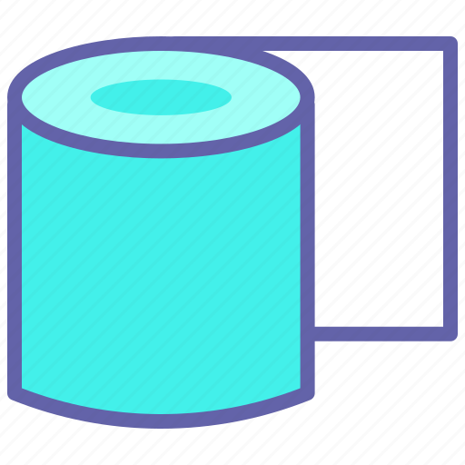 lavatory paper, paper roll, restroom, toilet, toilet paper, toilet paper roll icon