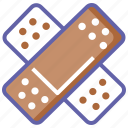 bandage, bandaid, health, medical, patch, wound icon